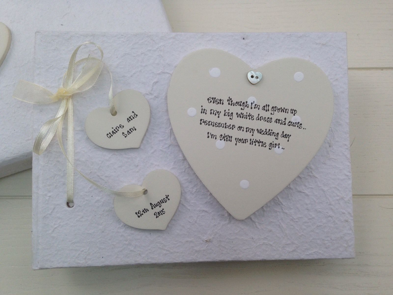Wedding Gift Ideas For Mother Of The Bride: Shabby Personalised Chic PHOTO ALBUM Mother Of The Bride